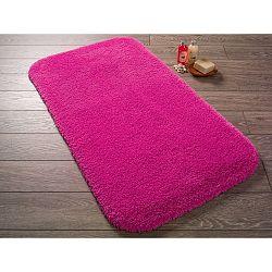 Fuchsiově růžová předložka do koupelny Confetti Miami, 50x57cm