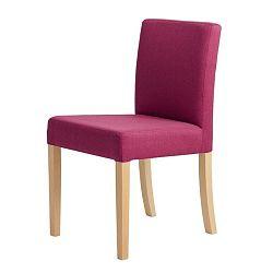 Fuchsiově růžová židle s přírodními nohami Custom Form Wilton