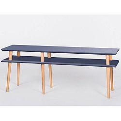 Grafitově šedý konferenční stolek Ragaba Mugo,délka159cm
