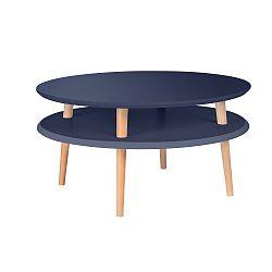 Grafitově šedý konferenční stolek Ragaba UFO,Ø70cm