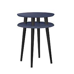 Grafitově šedý příruční stolek s černými nohami Ragaba UFO, Ø45cm
