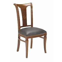 Hnědá buková jídelní židle s šedým podsedákem Folke Ramona