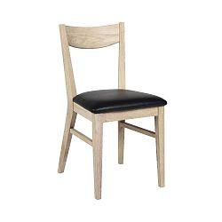 Hnědá dubová jídelní židle s podsedákem z kůže Folke Dylan