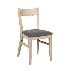 Hnědá dubová jídelní židle s podsedákem z plsti Folke Dylan