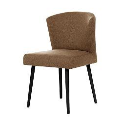 Hnědá jídelní židle sčernými nohami My Pop Design Richter