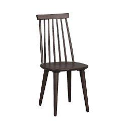 Hnědá jídelní židle ze dřeva kaučukovníku Folke Lotta