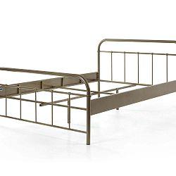 Hnědá kovová dětská postel Vipack Boston Baby, 140 x 200 cm