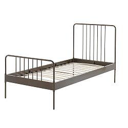 Hnědá kovová dětská postel Vipack Jack, 90 x 200 cm