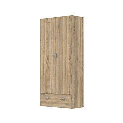 Hnědá šatní skříň Evegreen House Home Spark, výška 170,4 cm