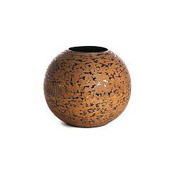 Hnědá váza Simla Ball, ⌀33cm