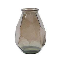 Hnědá váza z recyklovaného skla Mauro Ferretti Stone, ⌀ 25 cm