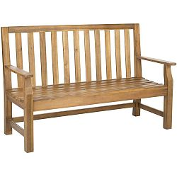 Hnědá zahradní lavice z akátového dřeva Safavieh Havana