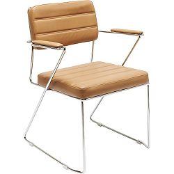 Hnědá židle Kare Design Dottore Brown