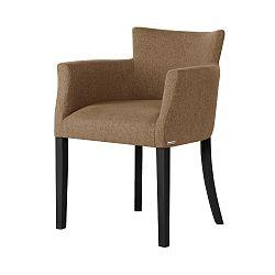 Hnědá židle s černými nohami Ted Lapidus Maison Santal
