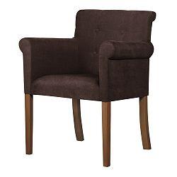 Hnědá židle s tmavě hnědými nohami Ted Lapidus Maison Flacon