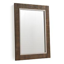 Hnědé nástěnné zrcadlo Geese Rustic, 60x80cm