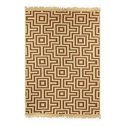 Hnědobéžový koberec Ya Rugs Kare, 120x180cm