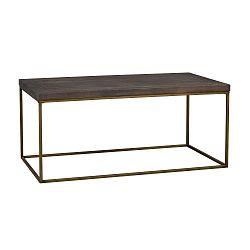 Hnědý dřevěný konferenční stolek Folke Brogge