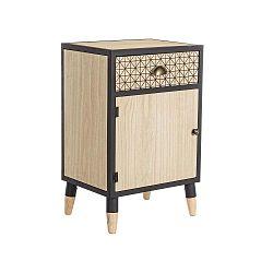 Hnědý dřevěný noční stolek Evergreen House Bed Time