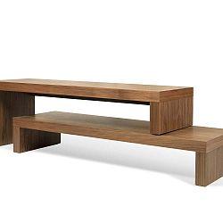 Hnědý dvojitý konferenční stolek TemaHome Cliff, 125 x 20 cm