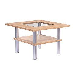 Hnědý konferenční stolek Knuds Padova, šířka77cm