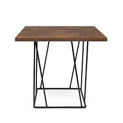 Hnědý konferenční stolek s černými nohami TemaHome Helix, 50cm