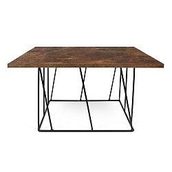 Hnědý konferenční stolek s černými nohami TemaHome Helix, 75 cm