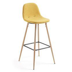 Hořčicově žlutá barová židle La Forma Nilson