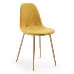 Hořčicově žlutá jídelní židle La Forma Lissy