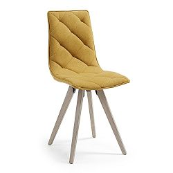 Hořčicově žlutá jídelní židle La Forma Tuk