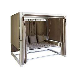 Houpací postel z umělého ratanu Santiago Pons Swing, 236x180cm