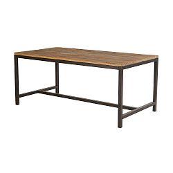Jídelní stůl s deskou z jilmového dřeva Interstil Vintage, 180 x 45 cm