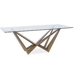 Jídelní stůl s deskou z tvrzeného skla Signal Aston, 200x100cm