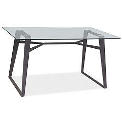 Jídelní stůl s deskou z tvrzeného skla Signal Bolt, délka140cm