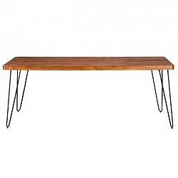 Jídelní stůl z masivního sheeshamového dřeva Skyport BAGLI, 200 x 80 cm