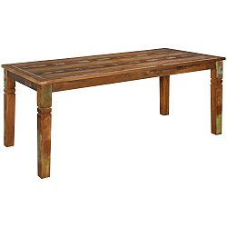 Jídelní stůl z recyklovaného mangového dřeva Skyport DELHI, 180 x 90 cm