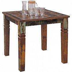Jídelní stůl z recyklovaného mangového dřeva Skyport DELHI, 80 x 80 cm