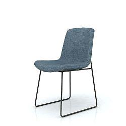 Jídelní židle s modrým sedákem Livin Hill Flow