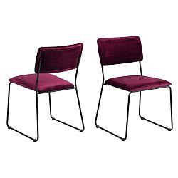 Jídelní židle v barvě bordó Actona Cornelia