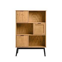 Knihovna z borovicového dřeva Marckeric Natasha