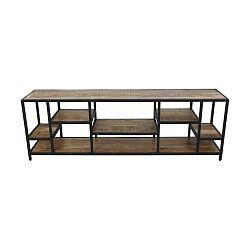 Knihovna z mahagonového dřeva HSM collection Levels, 170 x 55 cm