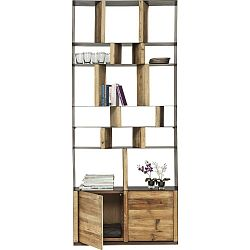 Knihovna z recyklovaného borovicového dřeva s dvířky Kare Design Storm