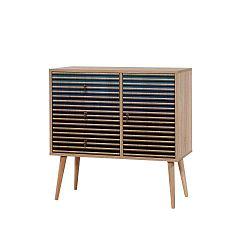 Komoda se 3 zásuvkami Verybox Blue Classic, 90 x 90 cm