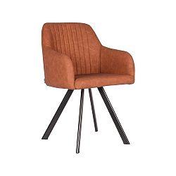 Koňakově hnědá jídelní židle LABEL51 Floor