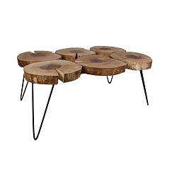 Konferenční stolek s deskou  z dubového dřeva HSM collection, délka110cm