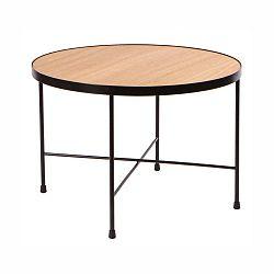 Konferenční stolek s deskou z dubového dřeva Nørdifra Oak, ⌀90cm