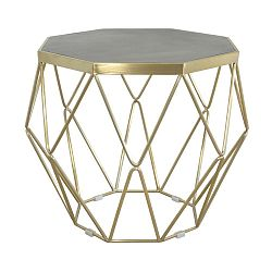 Konferenční stolek s podnožím ve zlaté barvě Livin Hill Glamour, ⌀68cm