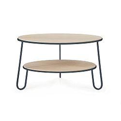 Konferenční stolek s šedou kovovou konstrukcí HARTÔ Eugénie, ⌀ 70cm