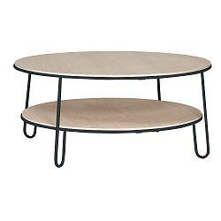 Konferenční stolek s šedou kovovou konstrukcí HARTÔ Eugénie, ⌀ 90cm