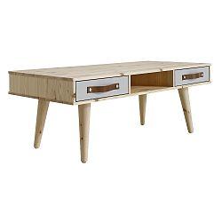 Konferenční stolek Says Who for Karup Dance Natural se zásuvkami Cool Grey